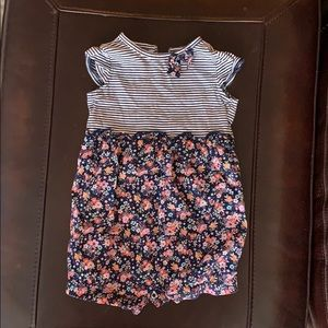 Carter's 18mo girls floral and strip romper